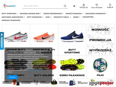 Sklep oferujący buty piłkarskie