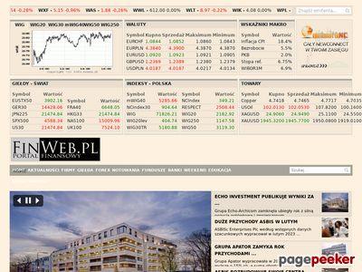 Finweb.pl - Waluty, Giełda, Biznes - Portal Finansowy