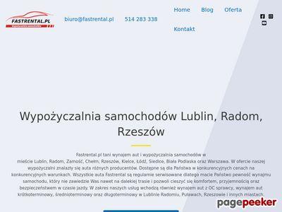 Fastrental.pl wypożyczalnia samochodów Lublin Radom Rzeszów