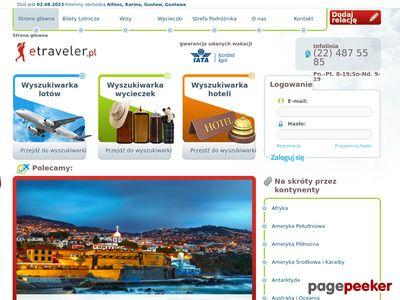 Portal podróżniczy Etraveler.pl